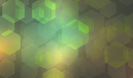Abstract background with blurred hexagonal bokeh Royalty Free Stock Images