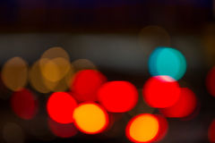 Abstract background of blurred lights with bokeh effect Royalty Free Stock Images
