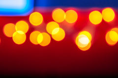Abstract background of blurred lights with bokeh effect Stock Photography