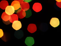 Abstract background with blurred lights. Blurred abstract lights flashing on a black background royalty free stock photo