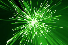 Abstract background with blurred magic neon green lines. 3d rendering Royalty Free Stock Images