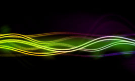abstract background with blurred  neon light Stock Image
