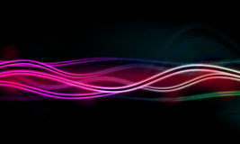 Abstract background with blurred  neon light Royalty Free Stock Images