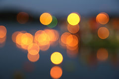 Abstract background of blurred warm lights Stock Image