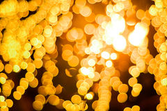 Abstract Background of blurred yellow lights Stock Photo
