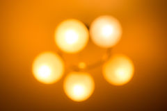 Abstract background of blurry ceiling lamp Stock Photography