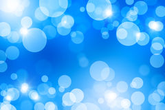Abstract background with boke. Blue abstract background with bokeh effect stock illustration