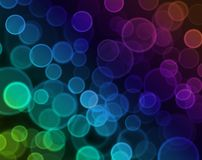 Abstract background, Bokeh. Illustration of colorful Bokeh effect Stock Image