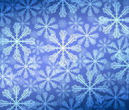 Abstract background with bokeh. Bright snowflake . Stock Image