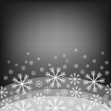 Abstract background with bokeh. Bright snowflake . Christmas design . Vector Illustration. Eps10. Stock Images
