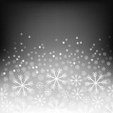 Abstract background with bokeh. Bright snowflake . Christmas design . Vector Illustration. Eps10. Royalty Free Stock Photography