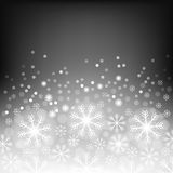 Abstract background with bokeh. Bright snowflake . Christmas design . Vector Illustration. Eps10. Royalty Free Stock Photos