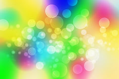 Abstract background bokeh circles. For Rainbow background Stock Image