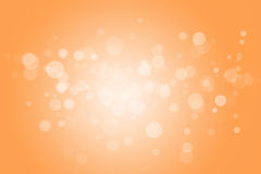 Abstract background bokeh circles. For yellow background stock illustration