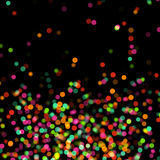 Abstract background with bokeh. Defocused lights Stock Photography