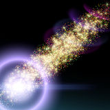 Abstract background with bokeh. Defocused lights in form of galaxy Royalty Free Stock Photos