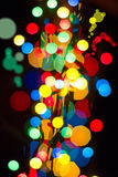 Abstract background with bokeh defocused lights Stock Photography