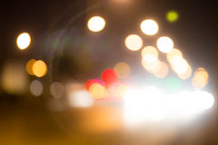Abstract background with bokeh defocused lights and shadow Royalty Free Stock Images