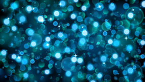 Abstract background with bokeh effect in blue. Abstract background with bokeh effect. Blurred defocused lights in blue colors. Bokeh lights with sparkles stock illustration