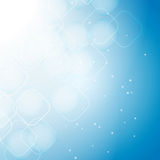 Abstract background with bokeh effect. Abstract blue background with bokeh effect, rounded squares Stock Photo