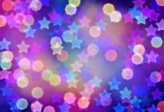 Abstract background, bokeh effect, festive decoration Stock Photo