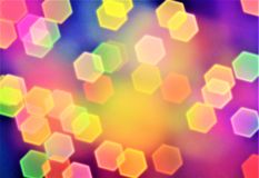 Abstract background, bokeh effect, festive decoration Royalty Free Stock Photography