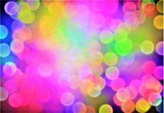 Abstract background, bokeh effect, festive decoration Royalty Free Stock Photo