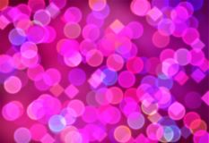 Abstract background, bokeh effect, festive decoration Stock Photography