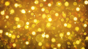 Abstract background with bokeh effect in gold. Abstract background with bokeh effect. Blurred defocused lights in gold colors. Bokeh lights with sparkles stock illustration