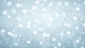 Abstract background with bokeh effect in light blue Stock Image