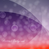 Abstract background with bokeh effect. Abstract of light cloudy circles like bokeh effect on purple and red gradient background and with light smooth layers on vector illustration