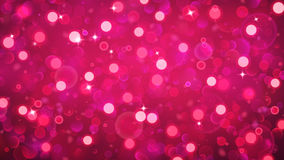 Abstract background with bokeh effect in red Stock Photo