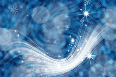 Abstract background bokeh. Festive abstract blue background with. Christmas and Happy New Years background with snowflakes Stock Photography