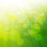 Abstract background with bokeh lights. Spring or summer abstract background with bokeh lights stock illustration