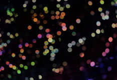 Abstract background with bokeh lights and stars Royalty Free Stock Image