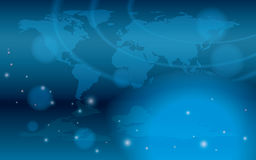 Abstract background with bokeh and map - eps 10. Abstract background with bokeh and map of the world - eps 10 Stock Illustration