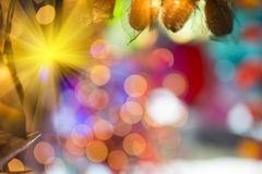 Abstract background with bokeh pattern. Abstract art bokeh light background Stock Images