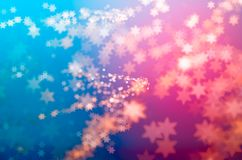 Abstract background of bokeh stars. Colorful abstract bokeh background filled with stars in the form of waves royalty free illustration