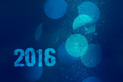 Abstract background with bokeh to new 2016. Concept for upcoming new 2016. Elegant abstract background with bokeh - defocused lights and bubbles in water vector illustration