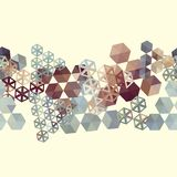 Abstract background border with hexagons Royalty Free Stock Image