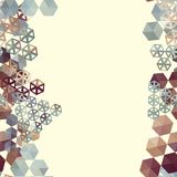 Abstract background border with hexagons. Use as backdrop. Place your text on the top royalty free illustration