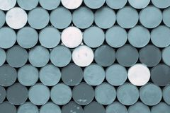 Abstract background from the bottoms of iron barrels Royalty Free Stock Image