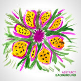 Abstract background of a bouquet of flowers in wat. Ercolor style vector illustration
