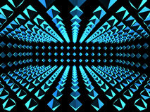 Abstract background with boxes. Abstract background with tunnel from boxes of blue color. 3d render Royalty Free Stock Photography