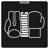 Abstract background on the boxing theme Royalty Free Stock Photos