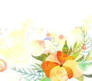 Abstract background with branch of floral. Watercolor butterflies background with butterflies for design vector illustration