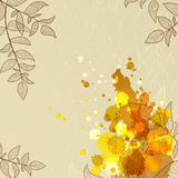 Abstract background with branches and blots. Abstract eco background with branch, leaf and blots Stock Images