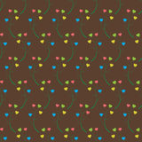 Abstract background of the branches with hearts. Seamless pattern can be used for wallpaper, pattern fills, web page background, surface textures Stock Illustration