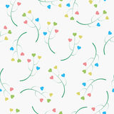 Abstract background of the branches with hearts. Seamless pattern can be used for wallpaper, pattern fills, web page background, surface textures Vector Illustration