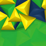 Abstract background. Brazil color Brazil Creative Abstract symbol Design royalty free illustration